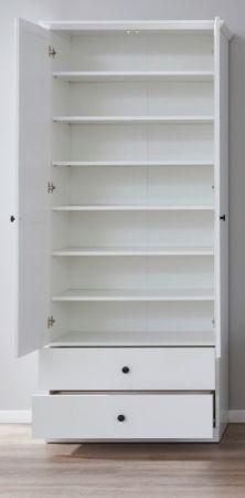 Flurgarderobe Baxter in Landhaus weiß Landhaus Schuh- / Garderobenschrank 81 x 196 cm
