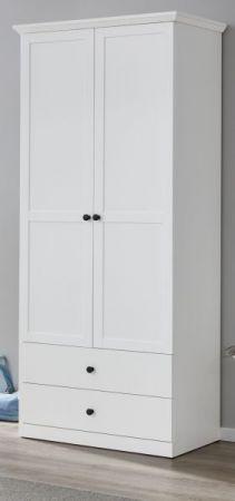 Garderobenschrank Baxter in weiß Landhaus Flurgarderobe 81 x 196 cm