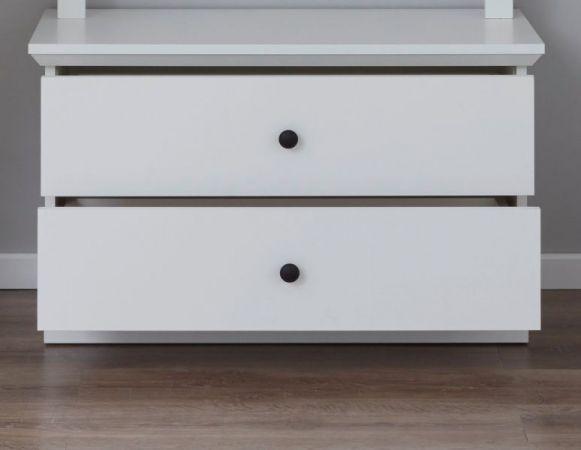 Garderobenbank Baxter in weiß Landhaus Sitzbank 81 x 49 cm