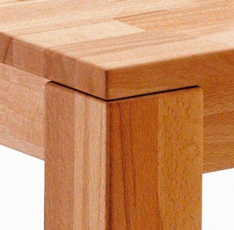 Esstisch Paul in Kernbuche massiv geölt Küchentisch 160 / 205 / 250 x 90 cm Tisch ausziehbar