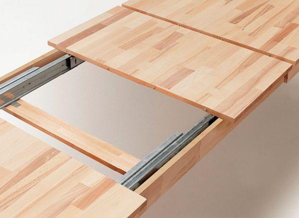 Esstisch Paul in Wildeiche massiv geölt Küchentisch 160 / 205 / 250 x 90 cm Tisch ausziehbar