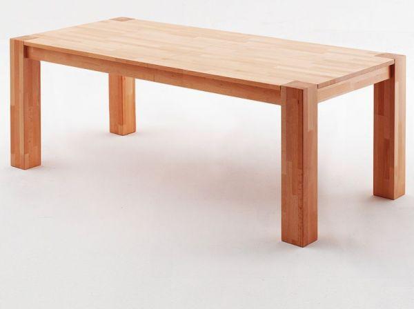 Esstisch Peter in Kernbuche massiv geölt Küchentisch 200 / 250 / 300 x 100 cm Tisch ausziehbar