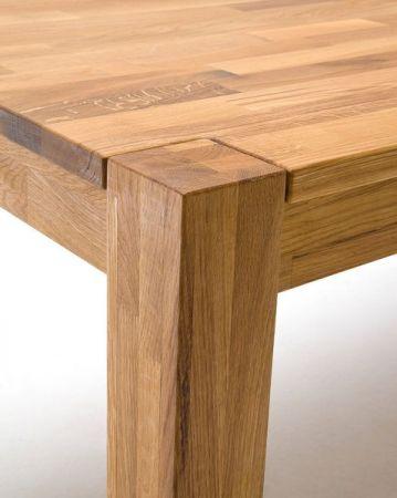 Esstisch Peter in Wildeiche massiv geölt Küchentisch 140 / 180 / 220 x 80 cm Tisch ausziehbar