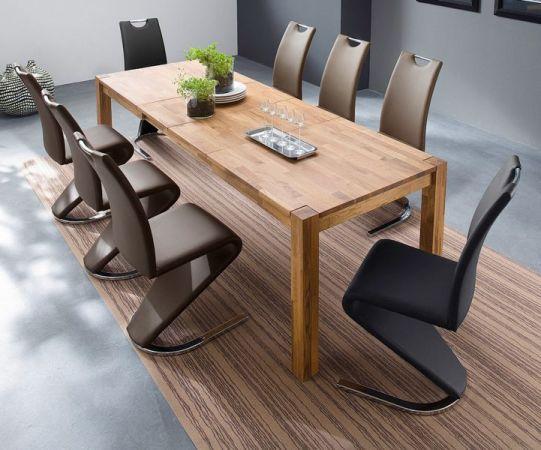 Esstisch Peter in Wildeiche massiv geölt Küchentisch 200 / 250 / 300 x 100 cm Tisch ausziehbar