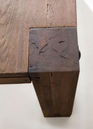 Esstisch Leeds in Eiche verwittert massiv matt lackiert Massivholztisch 220 x 100 cm