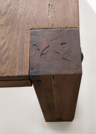 Esstisch Leeds in Eiche verwittert massiv matt lackiert Massivholztisch 300 x 120 cm
