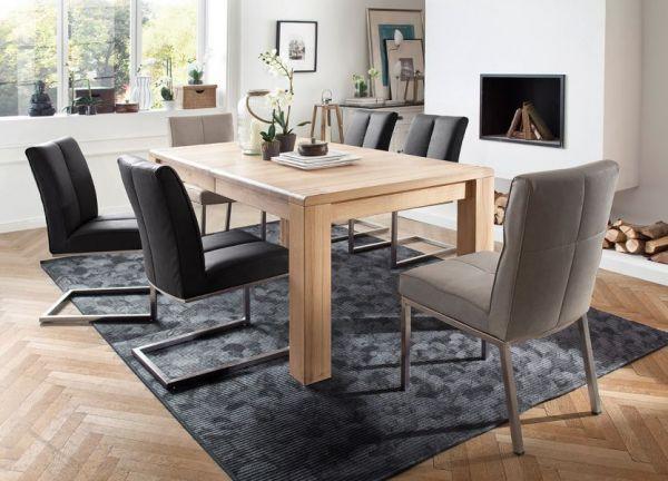 Esstisch Anton in Eiche Bianco massiv geölt Tisch 180 / 230 / 280 x 100 cm ausziehbar
