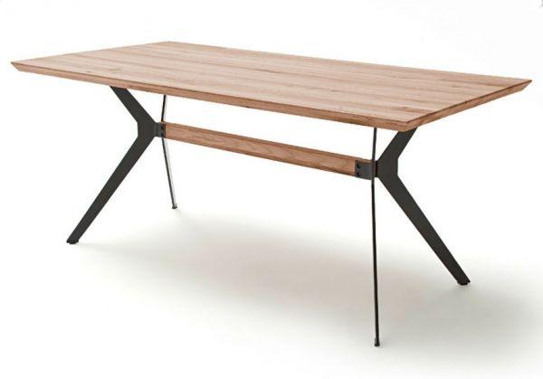Esstisch Kito in Wildeiche massiv Tisch mit Metallgestell in Antiklook 220 x 100 cm