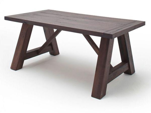 Esstisch Bristol in Eiche verwittert massiv matt lackiert Küchentisch Massivholztisch 180 x 100 cm