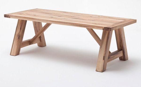 Esstisch Bristol in Wildeiche massiv matt lackiert Küchentisch Massivholztisch 220 x 100 cm