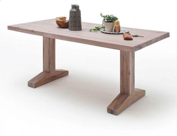 Esstisch Lunch in Eiche gekälkt massiv matt lackiert Küchentisch Massivholztisch 180 x 90 cm