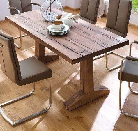 Esstisch Lunch in Eiche Bassano massiv matt lackiert Massivholztisch 180 x 90 cm