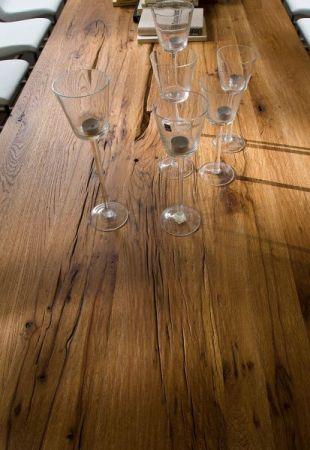 Esstisch Lunch in Eiche Bassano massiv matt lackiert Küchentisch Massivholztisch 220 x 100 cm