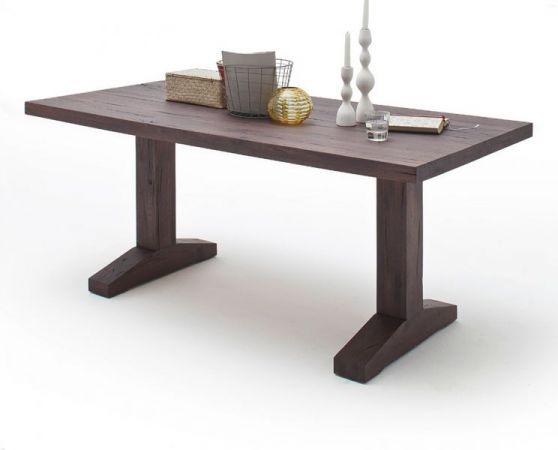 Esstisch Lunch in Eiche verwittert massiv matt lackiert Massivholztisch 260 x 100 cm