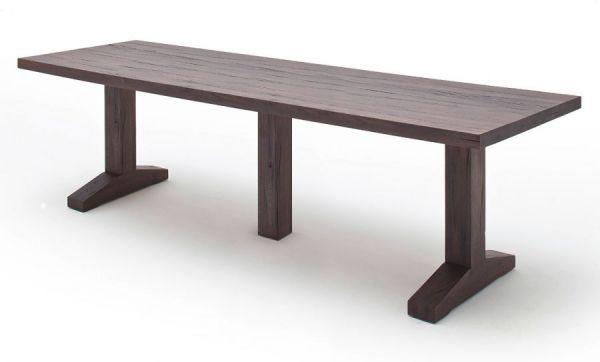 Esstisch Lunch in Eiche verwittert massiv matt lackiert Massivholztisch 300 x 120 cm