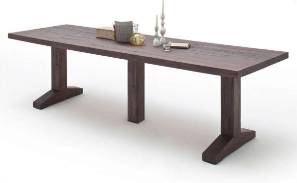 Esstisch Lunch in Eiche verwittert massiv matt lackiert Massivholztisch 400 x 120 cm