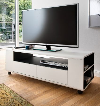 TV-Lowboard Chessey in weiss 119 cm