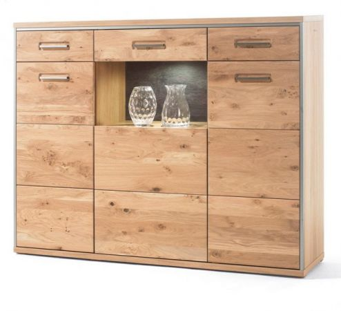 Highboard Asteiche Bianco massiv 154 cm