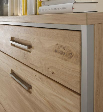 Highboard Espero in Asteiche Bianco massiv geölt Anrichte 154 x 121 cm