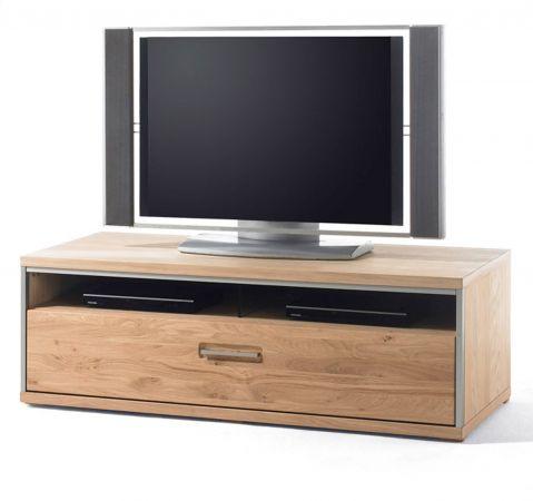 TV-Lowboard Espero in Asteiche Bianco massiv geölt TV-Unterteil 124 x 41 cm