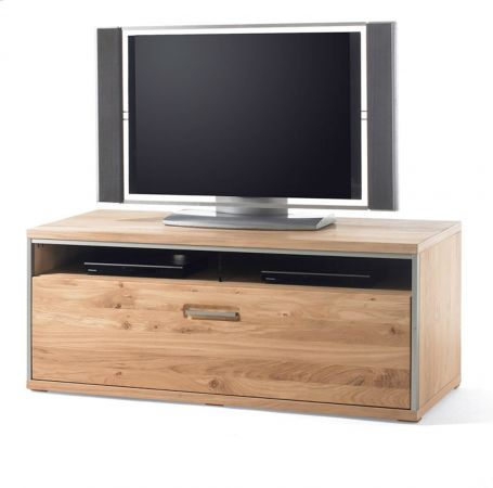 TV-Lowboard Asteiche Bianco massiv 124 cm