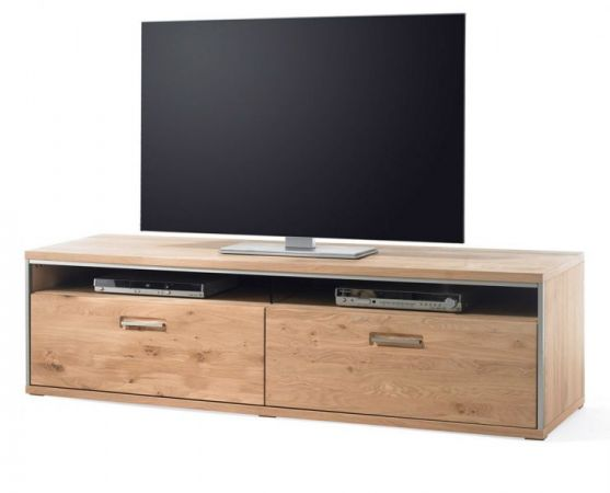 TV-Lowboard Asteiche Bianco massiv 184 cm