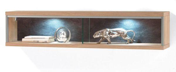 Wandregal Espero in Asteiche Bianco Wandboard 124 x 27 cm