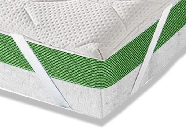 Topper aus Visco Schaum Matratzen Bezug Basic mit Halteschlaufen Matratzentopper in 7 Größen und 2 Stärken