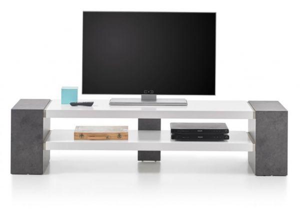 TV-Lowboard Jane in Stone Design grau und matt weiß TV-Unterteil 170 x 40 cm