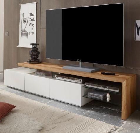 tv lowboard alimos asteiche massiv und matt wei 204 cm. Black Bedroom Furniture Sets. Home Design Ideas
