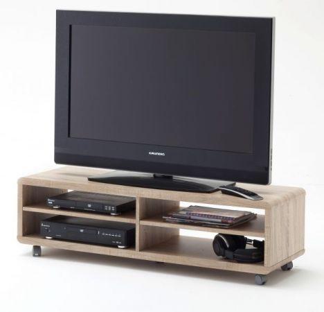 """TV-Lowboard """"Jeff"""" in Sonoma Eiche - Fernsehtisch auf Rollen 120 x 35 cm"""