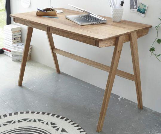 Schreibtisch Delia in Asteiche massiv geölt für Homeoffice und Büro 120 x 65 cm
