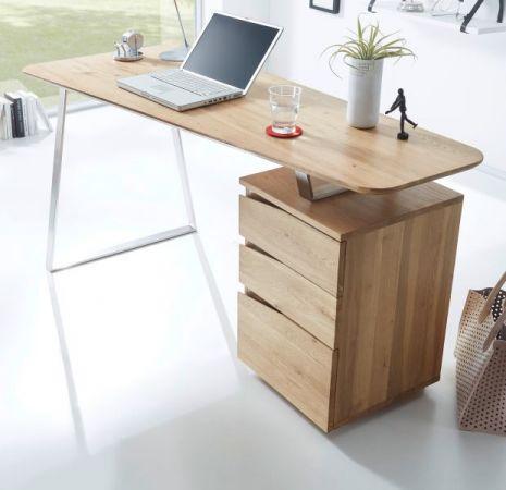 Schreibtisch Tori in Asteiche teilmassiv geölt für Homeoffice und Büro 150 x 67 cm