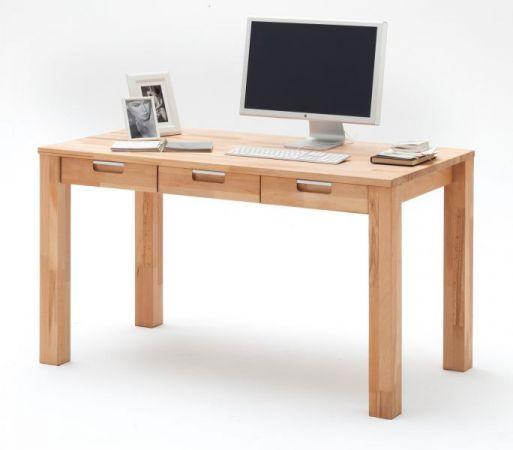 Schreibtisch Cento in Kernbuche massiv geölt / gewachst Bürotisch 135 x 70 cm