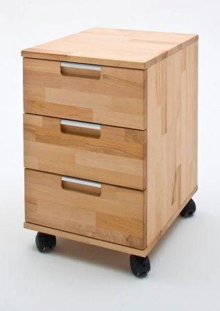 Rollcontainer Masimo in Kernbuche massiv geölt / gewachst Container rollbar 39 x 59 cm