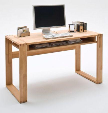 Schreibtisch Jasmin in Kernbuche massiv geölt / gewachst Bürotisch 135 x 60 cm
