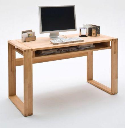 Schreibtisch Jasmin in Asteiche massiv geölt / gewachst Bürotisch 135 x 60 cm
