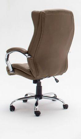Bürostuhl Porter in Kunstleder cappuccino mit Wippmechanik Chefsessel bis 150 kg