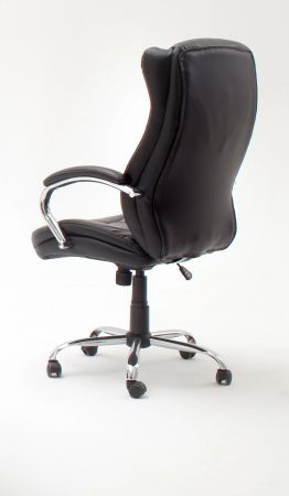 Bürostuhl Porter in Kunstleder schwarz mit Wippmechanik Chefsessel bis 150 kg