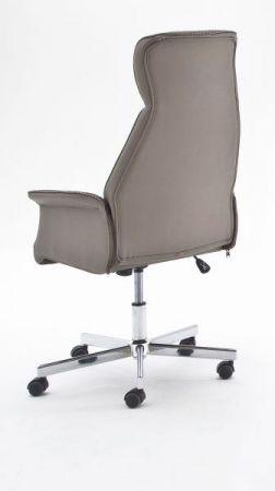 Bürostuhl Samuel in grau / braun mit Wippmechanik Chefsessel bis 120 kg