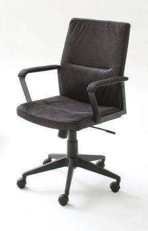 Bürostuhl Berno L in schwarz mit Wippmechanik Drehsessel bis 120 kg
