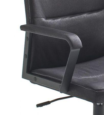 Bürostuhl Berno H in schwarz mit Wippmechanik Drehsessel bis 120 kg