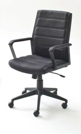 Bürostuhl Elis L in schwarz mit Wippmechanik Drehsessel bis 120 kg