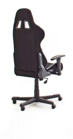 Bürostuhl DX-Racer in schwarz und grau mit Wippmechanik Chefsessel inkl. 2 verstellbarer Stützkissen Gaming Stuhl