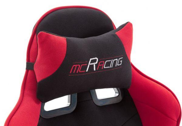 Bürostuhl Mc Racing in schwarz und rot mit Wippmechanik Chefsessel inkl. 2 verstellbarer Stützkissen Gaming Stuhl