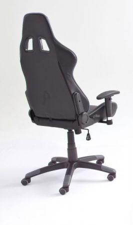 Bürostuhl Mc Racing in Kunstleder schwarz und grau mit Wippmechanik Chefsessel inkl. 2 verstellbarer Stützkissen Gaming Stuhl