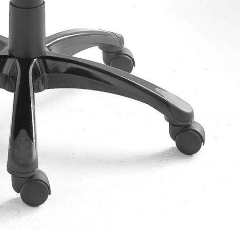 Bürostuhl Burt in schwarz / rot / weiß mit Wippmechanik Drehsessel auf Rollen 60 x 108 cm Gaming Stuhl