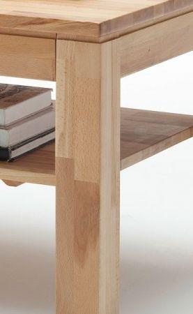 Couchtisch Lukas in Kernbuche massiv geölt / gewachst Wohnzimmertisch mit Schubkasten und Ablage 115 x 70 cm