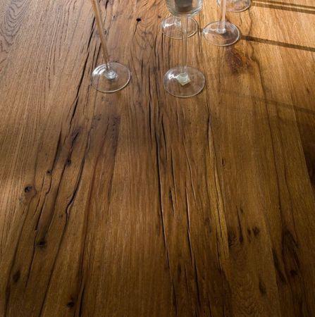 Couchtisch Lennox in Eiche Bassano massiv matt lackiert Wohnzimmertisch mit Ablage 110 x 70 cm
