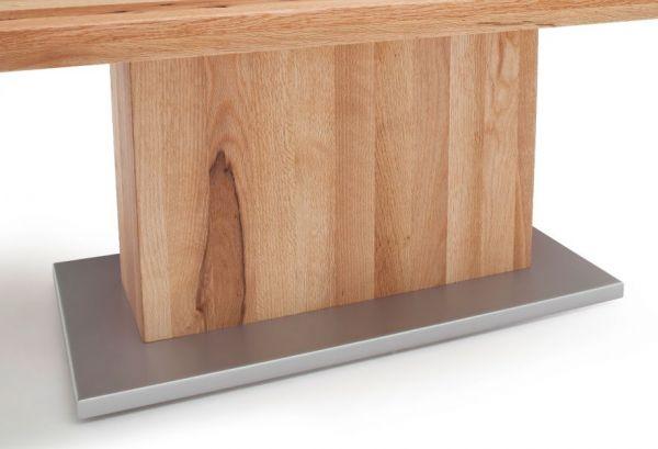 Couchtisch Corato in Zerreiche massiv geölt Wohnzimmertisch Eiche 120 x 75 cm Säulentisch